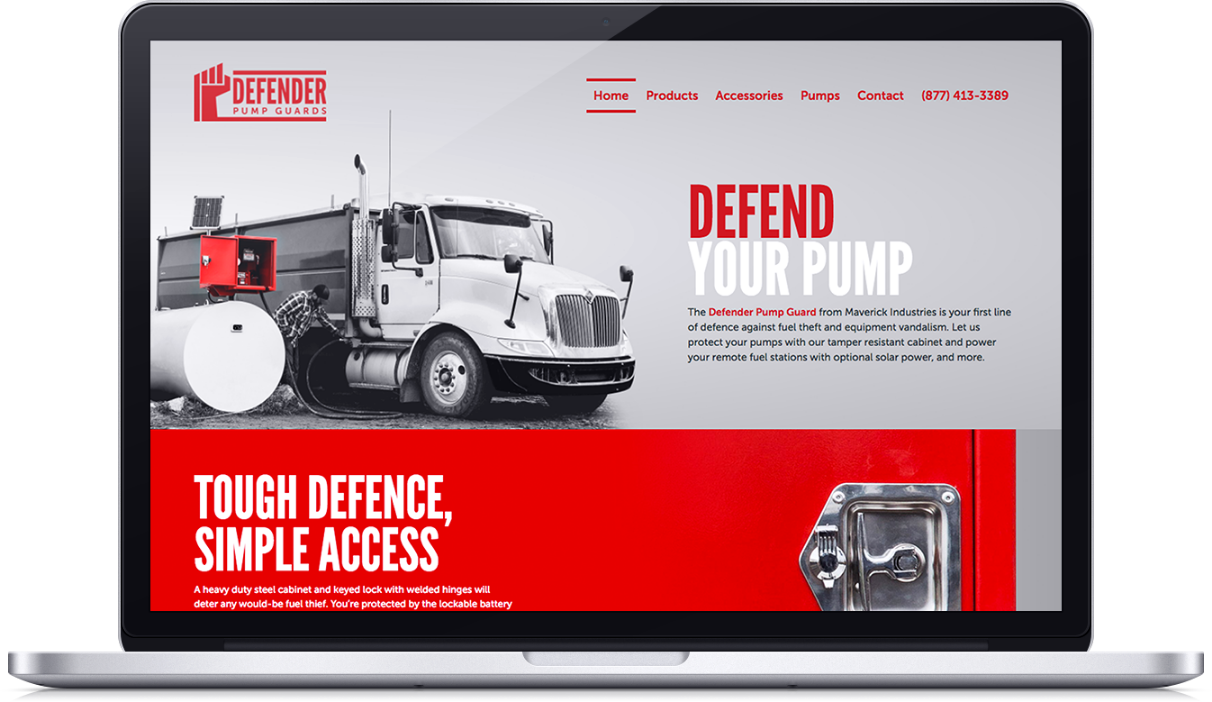 defender pump guards macbook mockup