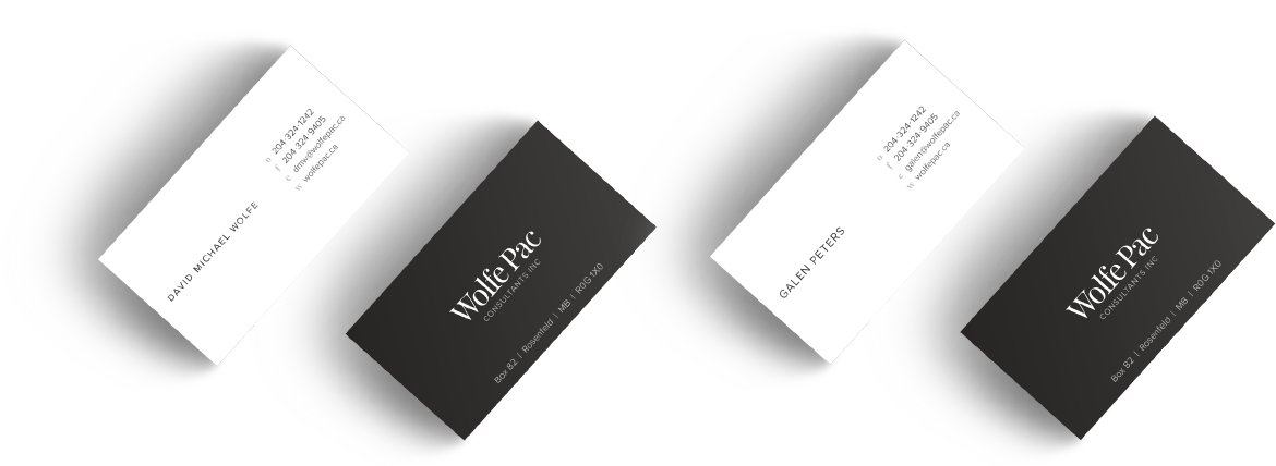 Wolfe Pac business card