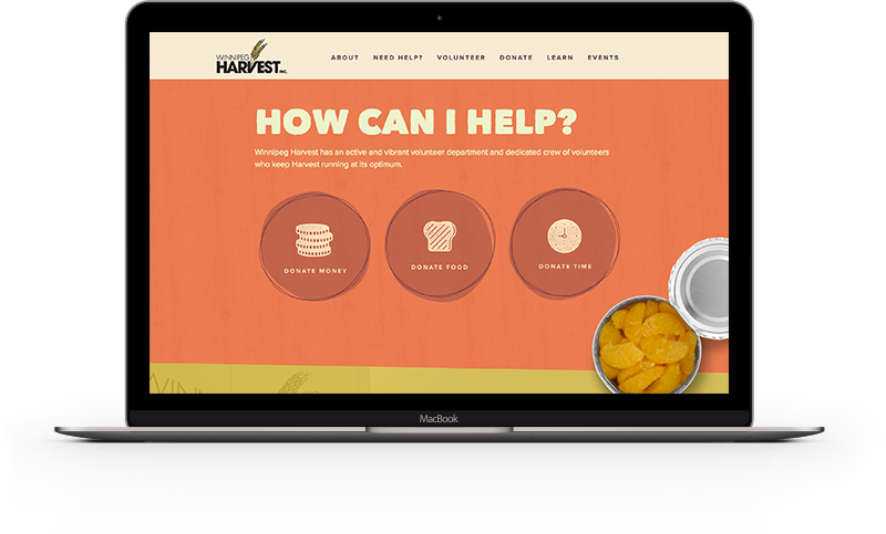 winnipeg harvest macbook mockup
