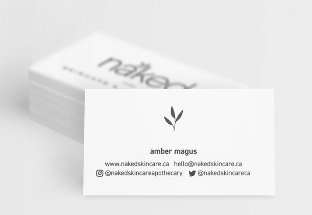 Naked Skincare & Apothecary business cards