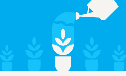watering a plant icon